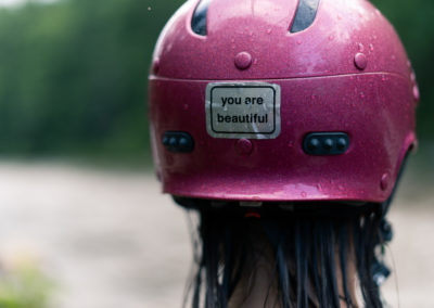 Pink Kayaker hat with You Are Beautiful sticker